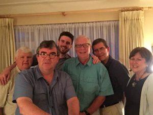 L to R Ray Murphy, Richard Black, Liam Murphy, Bill Black, Bob Black, Sheila Murphy