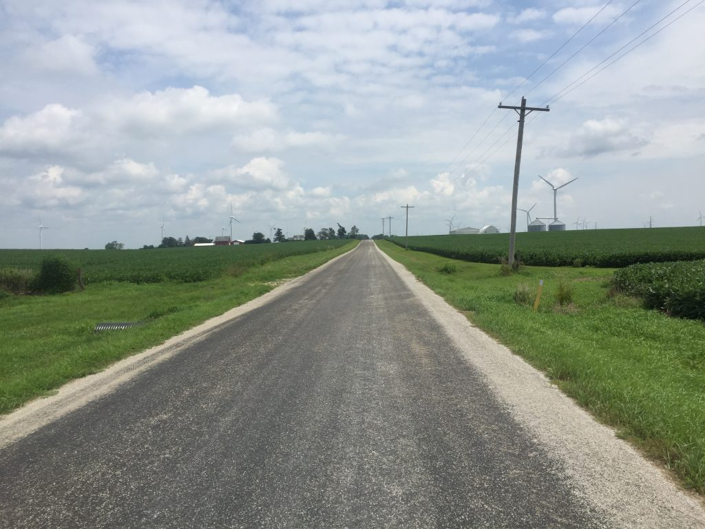 The road from Peoria to Gibson City